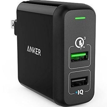 Anker 31.5W, Quick Charge 3.0, Dual USB Wall Charger PowerPort 2
