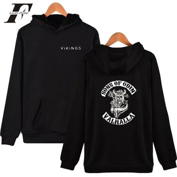 LUCKYFRIDAYF 2018 BTS SONS OF ODIN VALHALLA cotton oversized Hoodies sweatshirts Men women Tracksuit Vikings  Casual  clothes