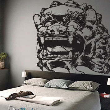 Vinyl Wall Decal Sticker Asian Chinese Dragon Statue #315