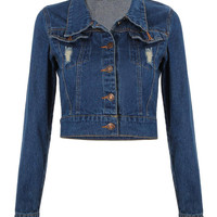 Blue Long Sleeve Denim Jacket