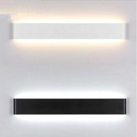 Modern 24cm/41cm Long Aluminum LED Wall Lamps for livingroom bathroom as Decoration Sconce Light AC90-260V lamparas de pared