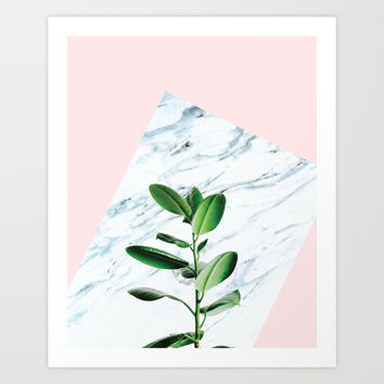 Fresh plant #society6 Art Print by designerkanchan