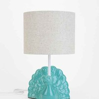 Plum & Bow Peacock Table Lamp- Sky One