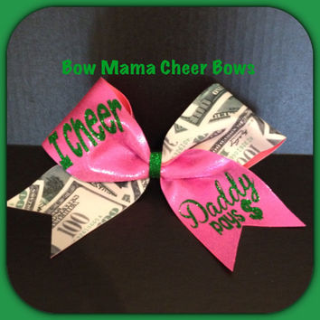 I Cheer Daddy Pays Cheer Bow From Bowmamacheerbows On Etsy
