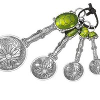 Ganz 4-Piece Measuring Spoons Set, Turtle