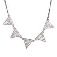 Aeropostale  Triangle Short-Strand Necklace - Silver