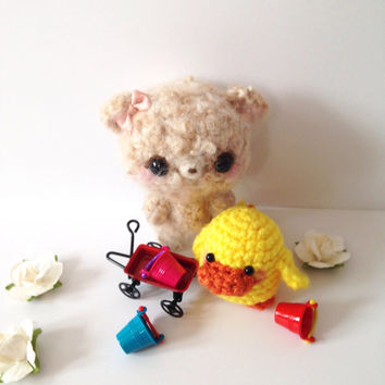 Amigurumi Bear Amigurumi Chick Chicky Amigurumi Teddy Bear Crochet Bear Doll Crochet Chick Plush Kids Toy Kawaii Easter Gift Ideas