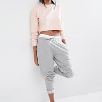 Missguided Cropped Sweat Top at asos.com