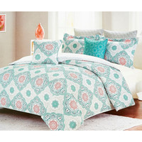 Mellie Moroccan Medallion 7PC King Comforter SET