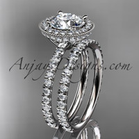 platinum diamond unique wedding ring, engagement ring ADER106S
