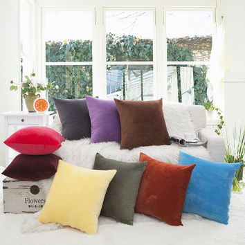 Yafinniti Fashion thick soft pillow cover, bedding, linen, travel, room, living room necessary 45X45cm and 55X55cm