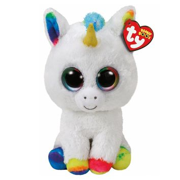 "Pyoopeo TY Beanie Boos 6"" 15cm & 10""25cm Pixy the Unicorn Plush Stuffed Animal Collectible Soft Big Eyes Plush Doll Toy"