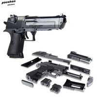 Gun Weapon Building Toy Puzzle Brain Game Model Guns Desert Eagle Assembly Outdoor Fun Toys For Children Boy