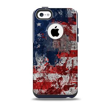 The Grungy American Flag Skin for the iPhone 5c OtterBox Commuter Case