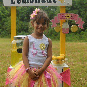 Lemonade Outfit  Tutu & Tanktop with Matching Hairbow