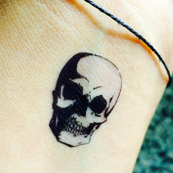 Skull Tattoo Temporary Set of 4 / Halloween Tattoos