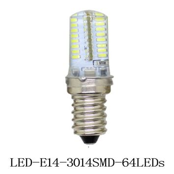 1x Mini E14 LED lamps 3014 SMD 24 64 104 leds 3W 7W 9W Crystal Chandelier 220V Spotlight Silicone Corn bulbs Pendant light