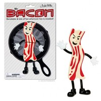 Mr Bacon Action Figure Unique Gift Novelty Toy Kitsch Weird Funny