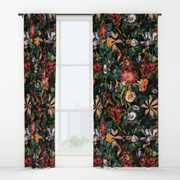 NIGHT-GARDEN-XXIV Window Curtains by Burcu Korkmazyurek
