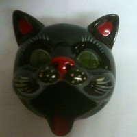 Shafford Black Cat Ashtray made in Japan Sm Sz