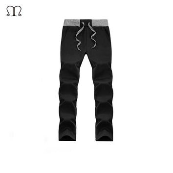 Sweatpants Men Pants Thick Thin Teenage Boy Trousers 2017 New Autumn Male Casual Straight Health Cheap Pants Student Jogger Men