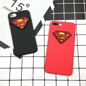 Stylish Iphone 6/6s Hot Deal On Sale Cute Strong Character Superman Iphone Innovative Silicone Phone Case [11192946247]