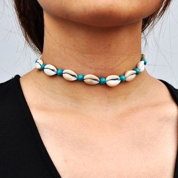 Boho Supernatural Sea Shell Beads Choker Necklace Ladies Neckless Chain Jewelry #91383