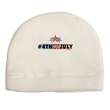 Hashtag 4th Of July Adult Fleece Beanie Cap Hat