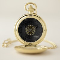 Vintage Gold and Black Bohemian Pocket Watch