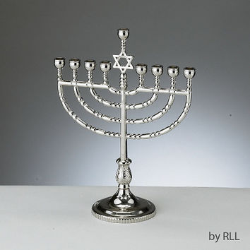 Traditional Menorah - Polished Silver