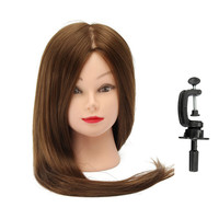 "30"" Hair Training Model Head Hairdresser Practice With Clamp"