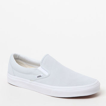 Vans Suede and Canvas Pale Blue Slip-On Shoes at PacSun.com
