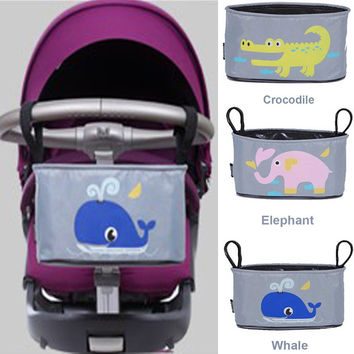 Free Shipping! 2016 Fashion Mother Bag Baby Stroller Organizer Diaper Bag Bay Nappy Bag Storage Hanging Bag For Mummy Travelling