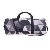 Grey Geometric Gym Duffel Bag