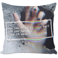Grunge quote pillow