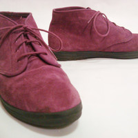 Womens Vintage Purple KEDS Lace-up Shoes Booties High Tops sz 7