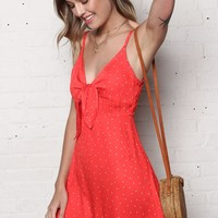MINKPINK Santorini Tie Front Dress