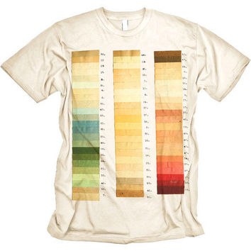 Art Swatches Tshirt Vintage Colors Shirt MENS CREAM Tee