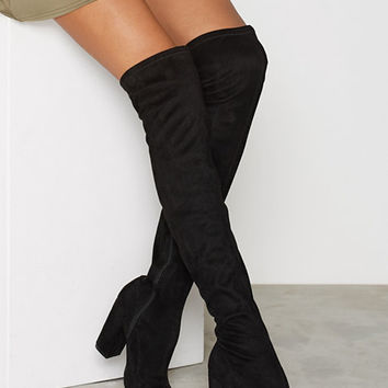 Block Heel Thigh Boot, NLY Shoes