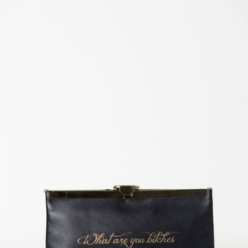 Comes With Baggage Clutch- What are you bitches lookin' at? – Satine Boutique