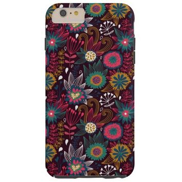 Modern Flower Pattern Tough iPhone 6 Plus Case