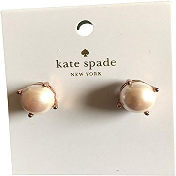Kate Spade Pearl Stud Blush Rose Gold Tone Earrings