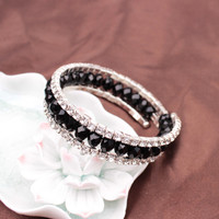 Great Deal Shiny New Arrival Awesome Stylish Gift Korean Crystal Stretch Bangle Hot Sale Rhinestone Bracelet [6573091271]