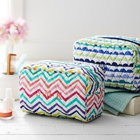 Quilted Sleepover Toiletry Bags