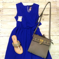 Royal side tie dress from PeaceLove&Jewels