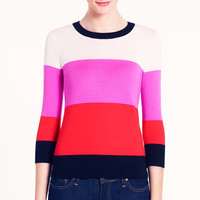 Striped Color Graphic Long Sleeve Sweatshirt