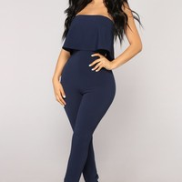 Don't Change Jumpsuit - Navy