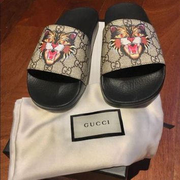 GUCCI Angry Cat Slipper Sandals Shoes