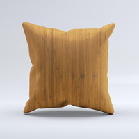 Real Bamboo Wood Ink-Fuzed Decorative Throw Pillow