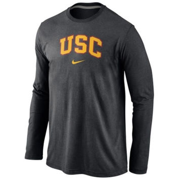 USC Trojans Nike Wordmark Long Sleeve T-Shirt - Black